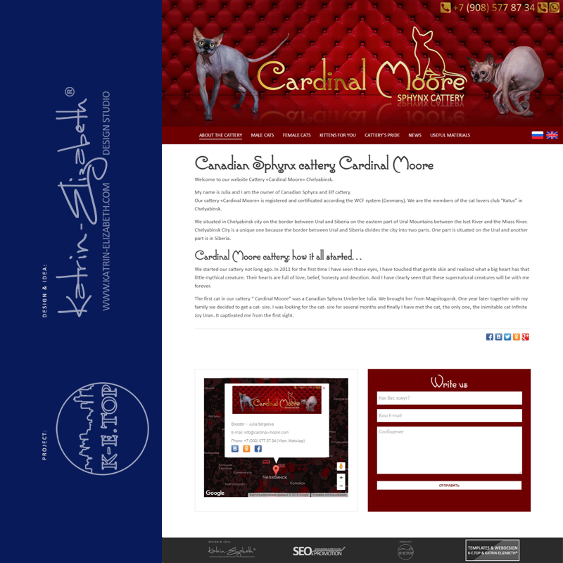 order cattery website