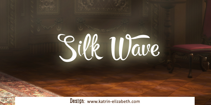 Simple logo of Silk Wave cattery