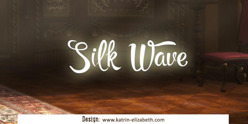 Упрощенный логотип-вотермарк для питомника Silk Wave
