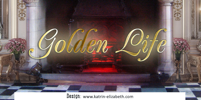Simple logo of Golden Life Cattery & Kennel