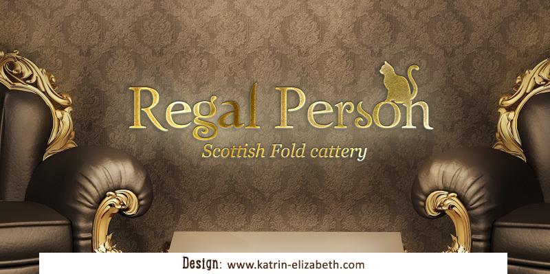 Логотип с одним контурным элементом для питомника Regal Person